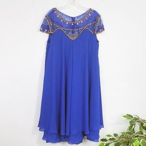 * Plus Size * Women's Fish Net Sequined Dress